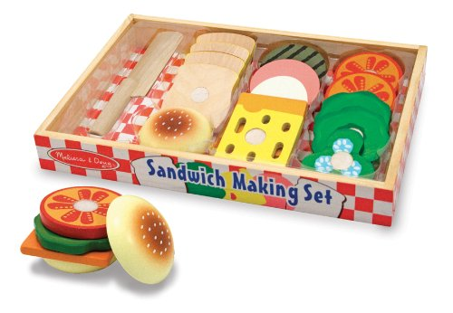 [Melissa & Doug Wooden Sandwich-Making Set] (High Quality Costumes For Sale)
