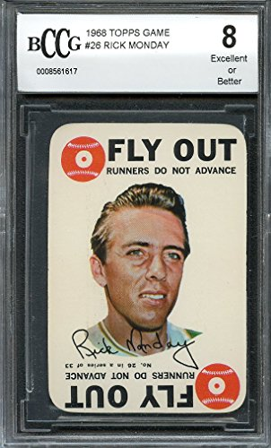 1968 topps game #26 RICK MONDAY chicago cubs BGS BCCG 8 Graded - Topps 1968 Game
