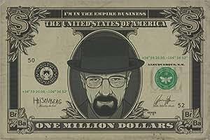 Póster Breaking Bad - Heisenberg Dollar - cartel económico, póster XXL