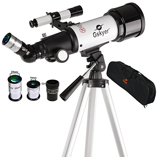 Gskyer Telescope, AZ70400 German Technology Astronomy Telescope,  Travel Refractor Gskyer® Instruments Infinity 70mm AZ Refractor 400mm Travel Telescope Kit Top