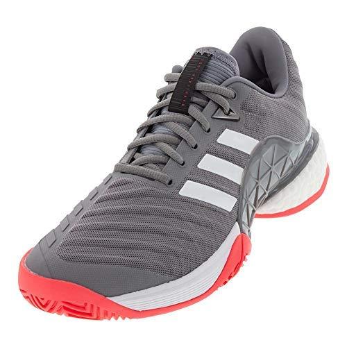 info for 1ae6d 37ec5 Galleon - Adidas Men s Barricade 2018 Boost White Matte Silver Scarlet 12.5  D US D (M)