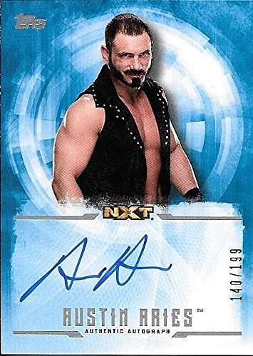2017 Topps WWE Undisputed #AA Austin Aries On Card Autograph #140/199