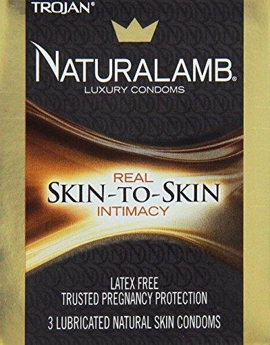 Trojan Naturalamb Natural Skin Lubricated Condoms 3 Count Pack of 12 by Trojan