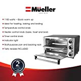 Toaster Oven 4 Slice, Multi-function Stainless