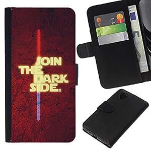 Stuss Case / Funda Carcasa PU de Cuero - ?nase al lado oscuro - LG Nexus 5 D820 D821