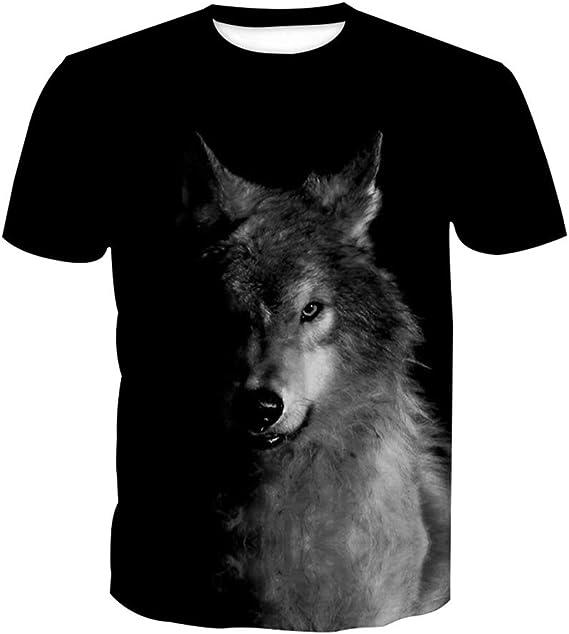 Wehor 3D Camisetas para Hombre Manga Corta Casual Camisa de Polo ...