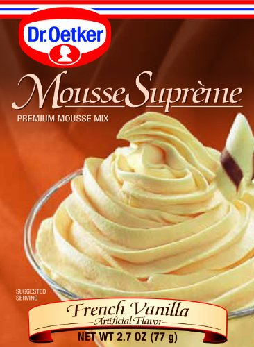 Chocolate Mousse Glass (Dr Oetker French Vanilla Mousse, 2.7-Ounce (Pack of 6))