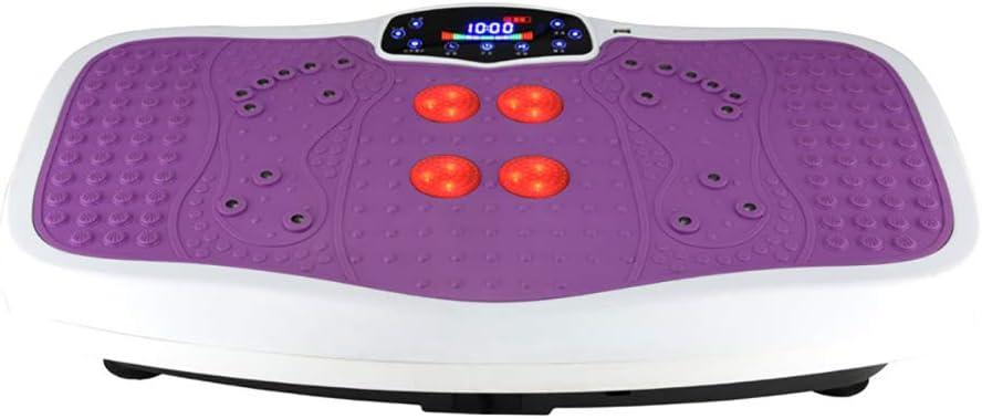 暖房理学療法振動痩身機揺れ機立ち音楽怠惰な減量ボディシェーピングマシン滑り止め家族のため、屋外 紫の