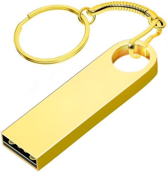 Gold Data Storage Gift 10-11 Computers Accessories USB2.0 Flash Drive Mini Memory Stick USB Flash Drive Metal Thumb Drive Capacity : 2G