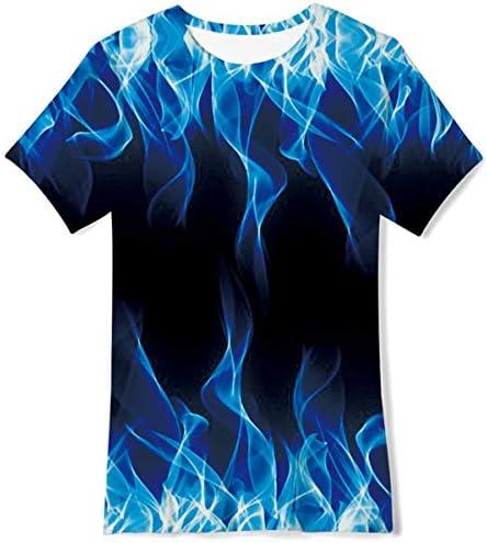 Fanient Tshirt met korte mouwen voor jongens en meisjes 3Dprint ronde hals zomerhemd tops