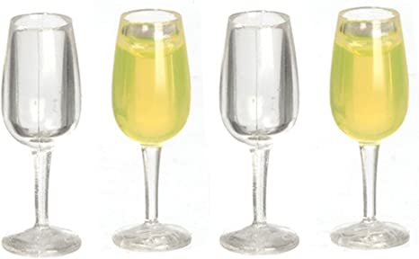 Dollhouse Miniatures Plastic Champagne Flute Glass