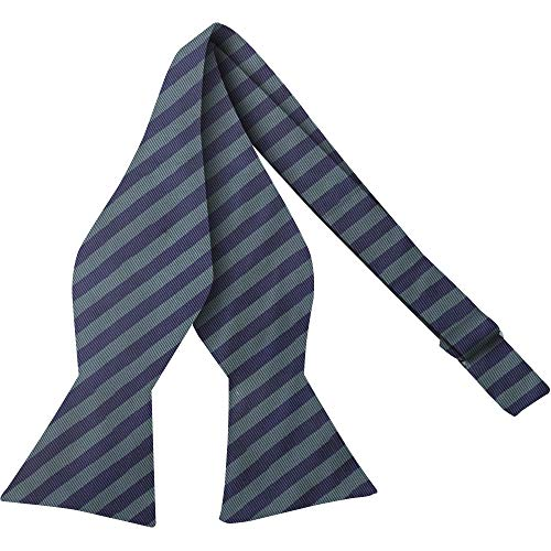 - Luther Pike Self Tie Woven Striped Bow Ties For Men Tuxedo Bowtie Green & Navy Blue Bow Tie