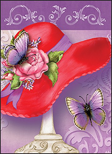 Red Hat Ladies Society Blank Note Cards 10 ct Package w/Envelopes Hat and Butterfly Made in USA