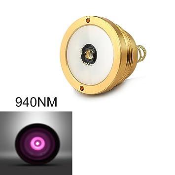 UniqueFire 940 nm LED píldora infrarrojos iluminación LED lámpara soporte de repuesto para linterna de T20: Amazon.es: Deportes y aire libre