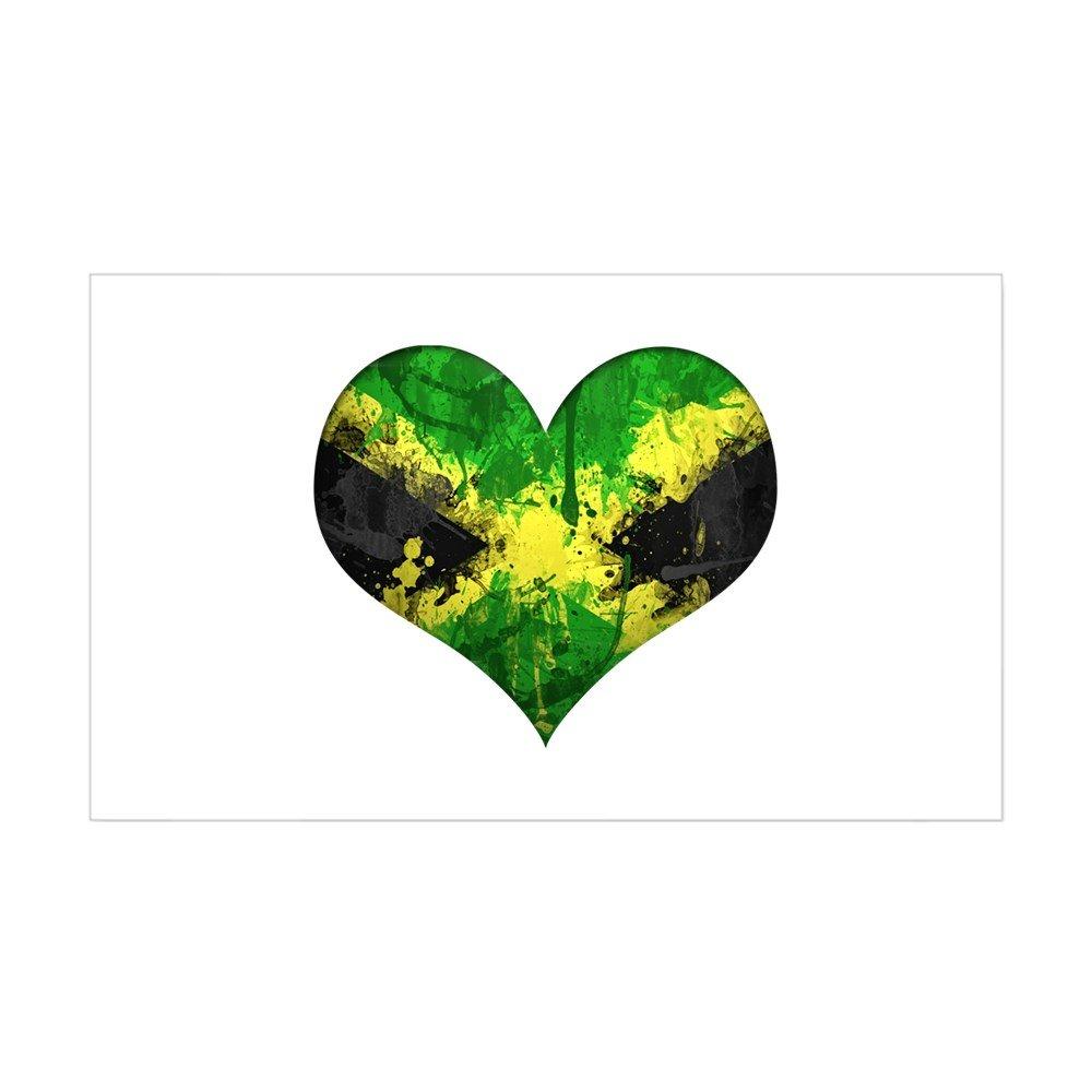 Amazon com cafepress jamaican heart sticker rectangle rectangle bumper sticker car decal home kitchen