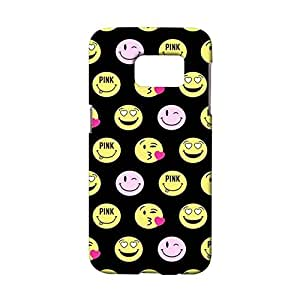 Samsung Galaxy S7 Emoji Phone Case Cover,Fashion Lovely Emoji Face Space Smiley Custom 3D Snap on Case for Samsung Galaxy S7