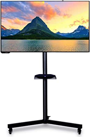 XUE Mobile TV Stand Rolling TV Cart con Montura Universal y Ruedas se Adapta a la mayoría de 14-42 Pulgadas LCD LED OLED Plasma Pantalla Plana TV Trolley: Amazon.es: Hogar