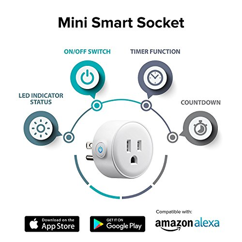 2018 Smart Plug Alexa Accessories Outlet 2 Pack,Compatible With Alexa/Google Home,WiFi Smart Socket Outlet Remote Control For Phone,No Hub Required by E-SmartPrime (Image #2)
