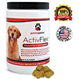 ActivFlex, Glucosamine for Dogs, Safe Arthritis Pain Relief, All Natural Hip & Joint Supplement For Dogs, Improves Hip Dysplasia, Chondroitin, Turmeric, MSM for Dogs, 120 Soft Chews, Made in USA