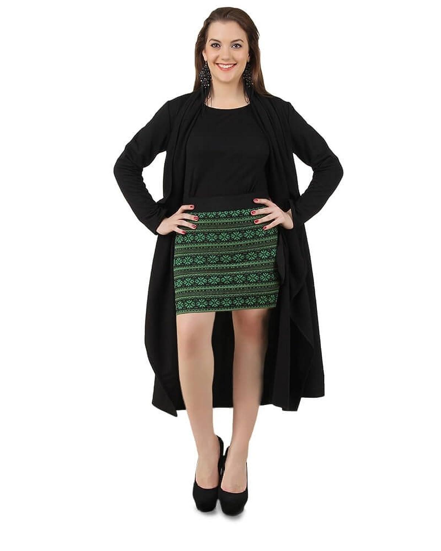 LoveURAPpearance Women's Golden Stripe Winter Dress - Regular and Plus Size