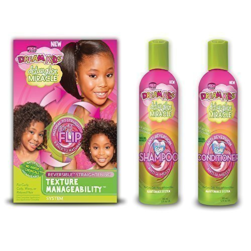Dream Kids Detangler Miracle Reversible Straightening Texture Manageability Set Of 3 Products (Transitioning From Relaxed To Natural Hair Products)