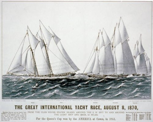 Photo: Great International Yacht Race,1870,Staten Island,America at Cowes,Queen's Cup