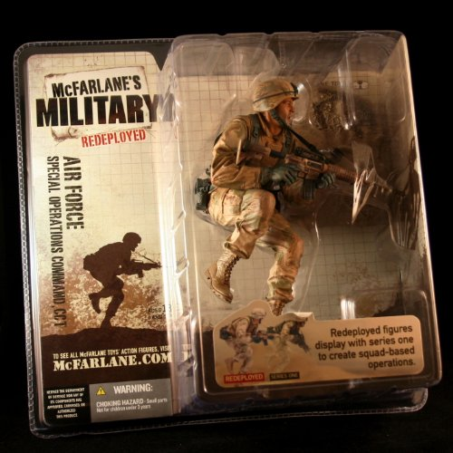 AIR FORCE SPECIAL OPERATIONS COMMAND, CCT CAUCASIAN VARIATION McFarlane's Military Redeployed Series 1 Action Figure & Display Base Air Force Operation