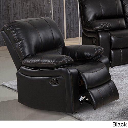 Us Reclining Rocking Chair (US Furnishing Express Samantha Leather Gel Living Room Rocking Reclining Chair Black)
