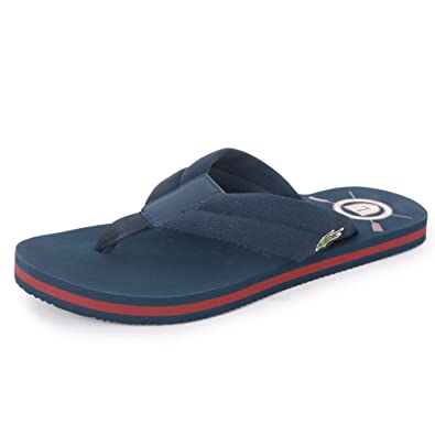 22595b662 Lacoste Randle Tbc Mens Textile Sandals Blue Red 12 UK  Amazon.co.uk  Shoes    Bags