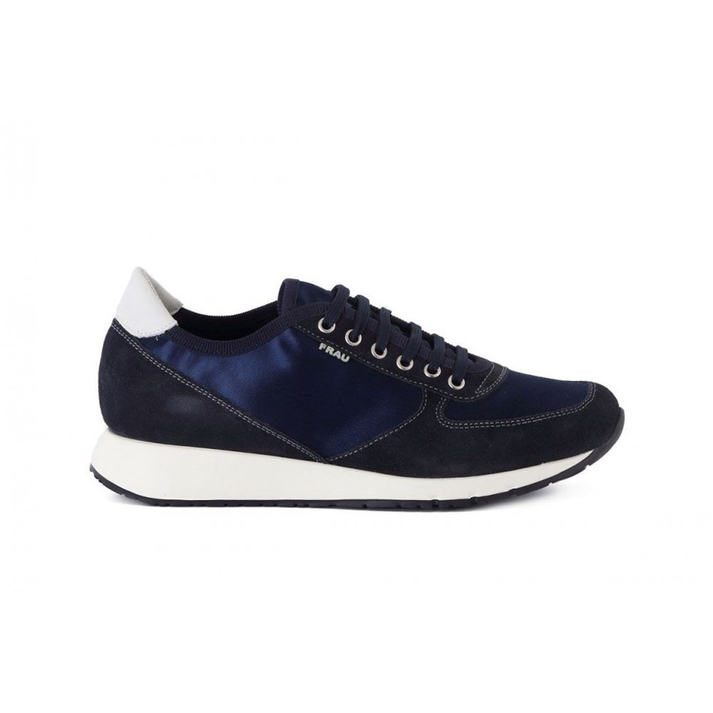 Frau 43Y3 Chaussures B071XJQ182 en Daim Bleu Femme Baskets Blu Bleu Lacets en Satin Blu ce2dac0 - reprogrammed.space