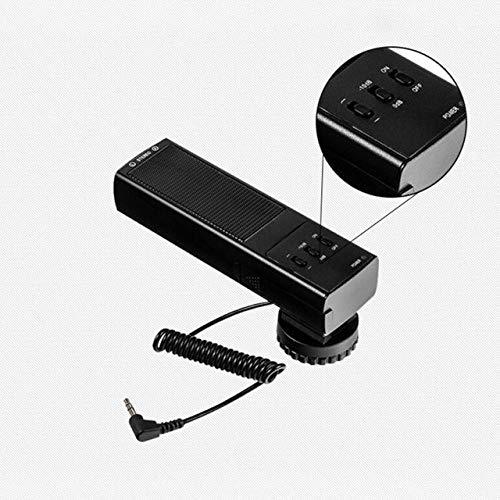 3.5ミリメートルのデジタル一眼レフカメラキヤノンニコンコンデンサー用DVコンデンサー耐震ステレオアンチ干渉:黒   B07K2GSTMG