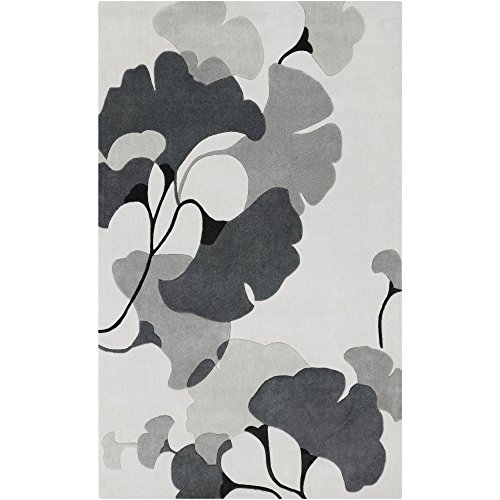Surya Cosmopolitan COS-9172 Contemporary Hand Tufted 100% Polyester Icicle 9' x 13' Floral Area Rug