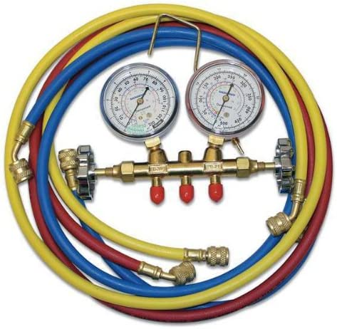 Bacharach 2002-5000 MS050 Manifold Set R-12 22 134a with Three Hoses