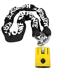 Kryptonite New York Legend 1515 Chain with New York Padlock (30 Inches Long When Locked)