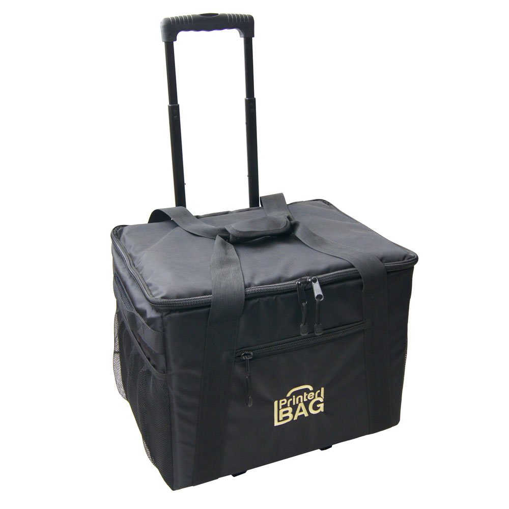 PrinterBag - Rolling Carrying Case for Printers. Fits Most Photo Printers Such as DNP DS620A, DS40, DS-RX1HS, DS820A, Hiti P525L, Mitsubishi CP-K60DW-S, CP-D90DW, CP-9550DW, CP-D70DW, Sinfonia CS2. by PrinterBag