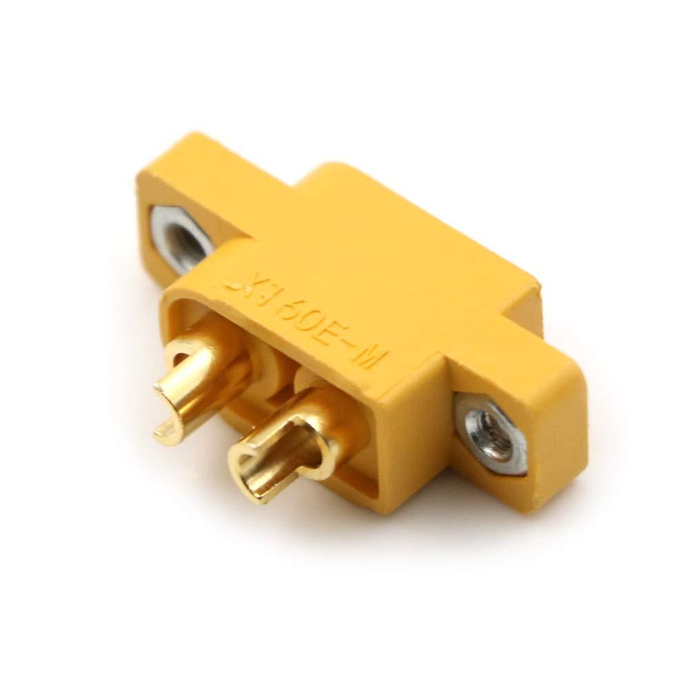 YUNIQUE France /® 5 pi/èces de connecteur de Haut Courant Nylon XT60E-M connecteur de Batterie Prise dor