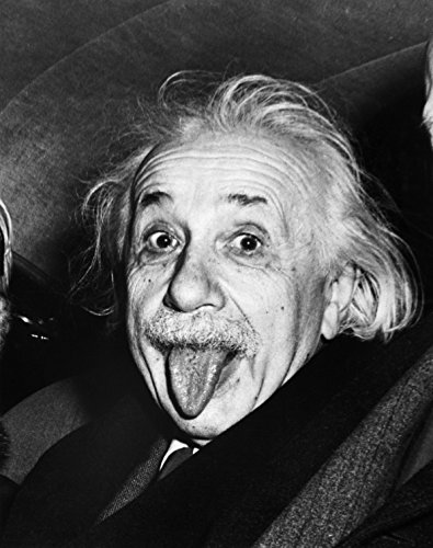 Albert Einstein Tongue Out Glossy Poster Picture Photo science funny cool mc
