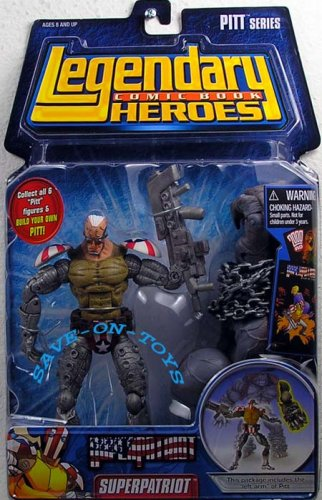 Marvel Legendary Heroes Pitt Series Superpatriot Action Figure [Mask Off]