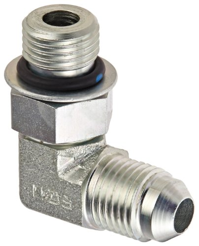 Straight O-ring - Eaton Weatherhead C5515X5 Carbon Steel SAE 37 Degree (JIC) Flare-Twin Fitting, 90 Degree Elbow, 5/16