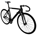 Zycle Fix Prime Series Fixed Gear Bike Single Speed Track Alloy Frame with Drop Bars- Matte Black - FREE lights with purchase (50)