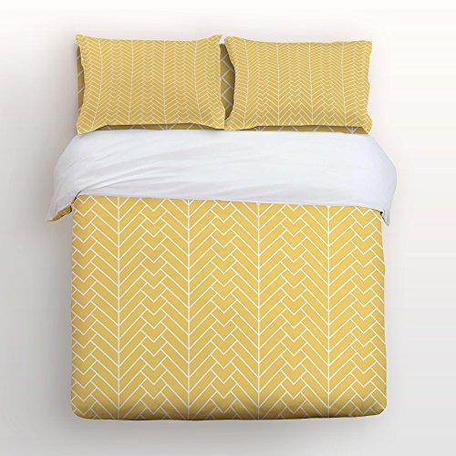 - KAROLA Duvet Cover Cotton Bedding Set Modern Minimalist Style Herringbone DesignHypoallergenic Duvet Cover Set-Ultra Comfy,Breathable,Zipper Closure Queen Size