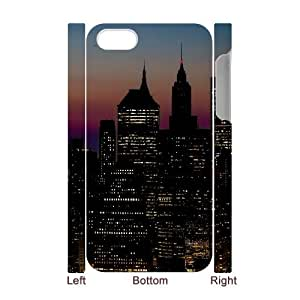 3D [New York2] Manhattan New York City Ny United States Case for IPhone 4/4s, IPhone 4/4s Case {White}