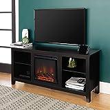 Walker Edison Wren Classic 4 Cubby Fireplace TV