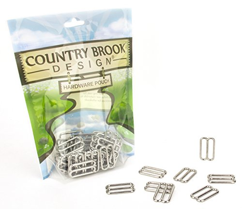 20 - Country Brook Design 1 Inch Metal Round Triglide - Metal Rounds