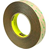 Partners Brand PT96594723PK 3M 9472LE Adhesive Transfer Tape, Hand Rolls, 60 yd. Length, 1'' Width, Clear (Pack of 3)