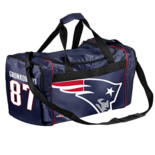 New England Patriots Official NFL Duffel Gym Bag - Rob Gronkowski #87