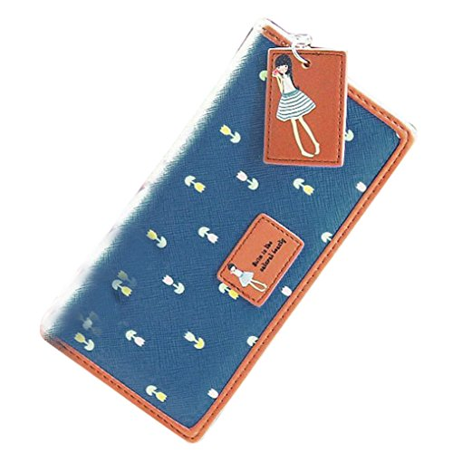 Clutch Wallet Zip Bag Card Holder (Blue) - 9