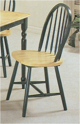 Arrow Wood Natural Chair (Set of 4 Natural & Green Finish Arrow Back Wood Dining Chair/Chairs)