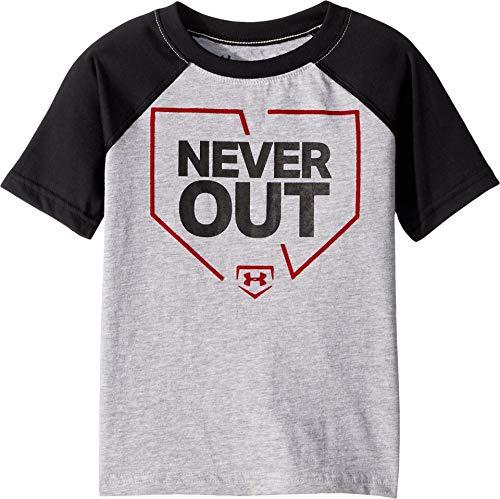 Under Armour Boys' Little Logo Raglan Tee Shirt, Moderate Gray-s, - 5 T-shirt Logo