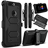 Venoro for ZTE Blade Z Max Case, ZMax Pro 2 Case, ZTE Sequoia Case, Heavy Duty Shockproof Full Body Protection Rugged Hybrid Case Cover with Swivel Belt Clip and Kickstand for ZTE Z982 (Black)
